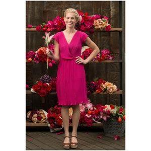 Shabby Apple Hot Pink Fuchsia Wild Tulip Dress
